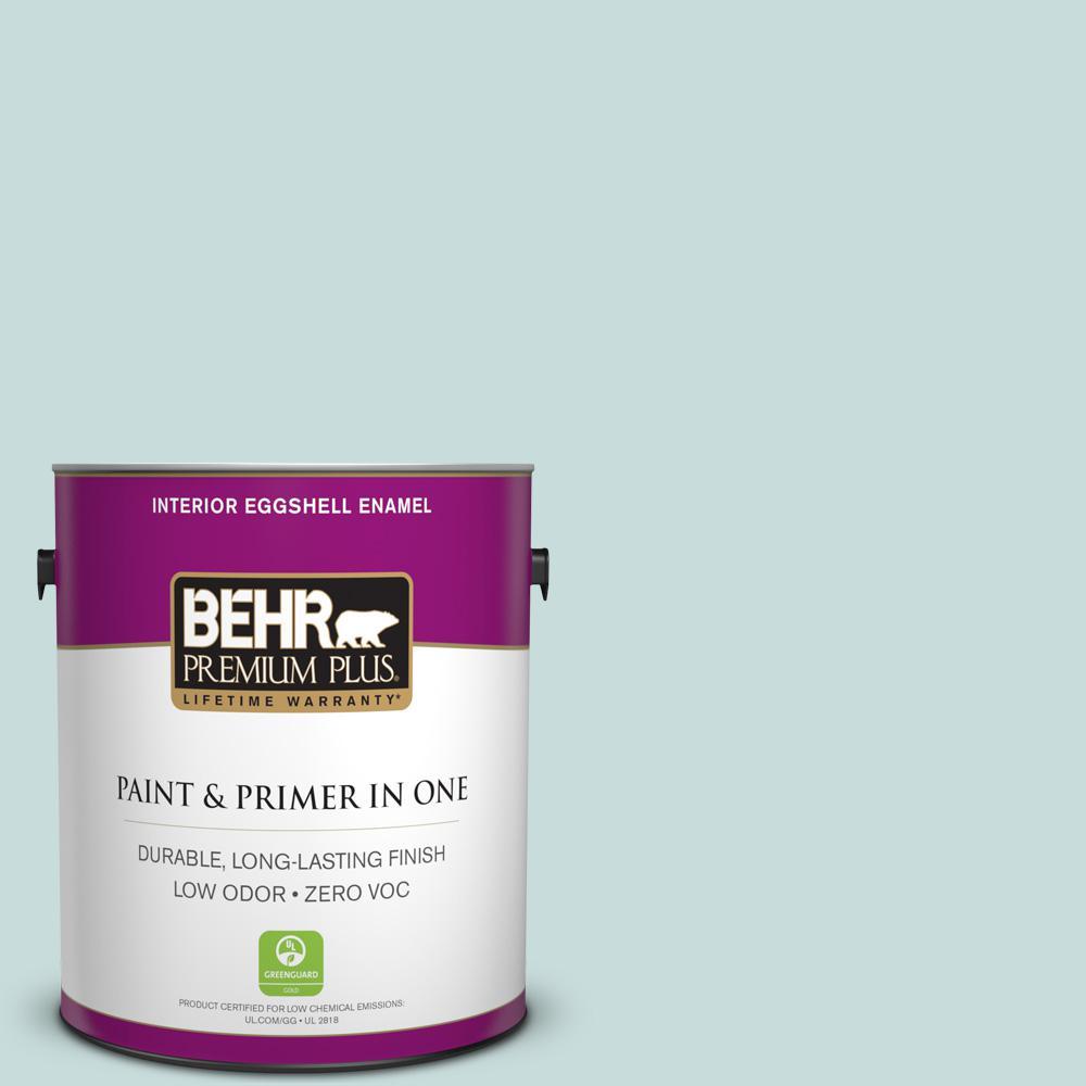 BEHR Premium Plus 1-gal. #S440-1 Sunken Pool Eggshell Enamel Interior Paint
