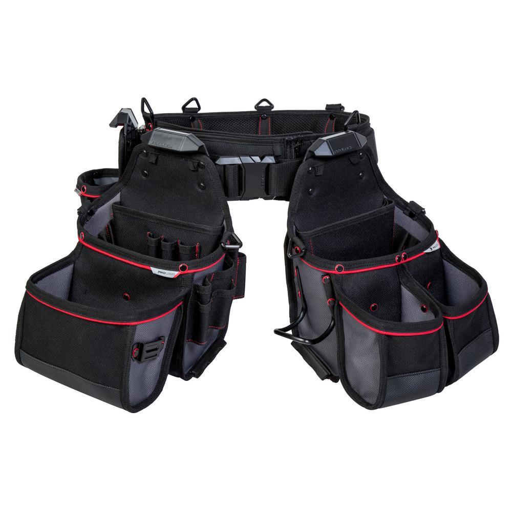 4-Piece 12-Pocket Contractor Tool Belt Rig