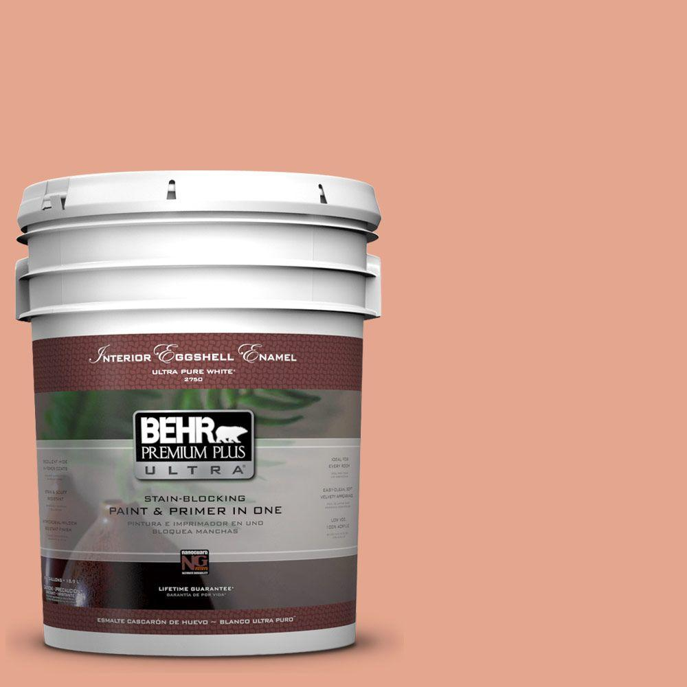 BEHR Premium Plus Ultra 5-gal. #M180-4 Priceless Coral Eggshell Enamel Interior Paint