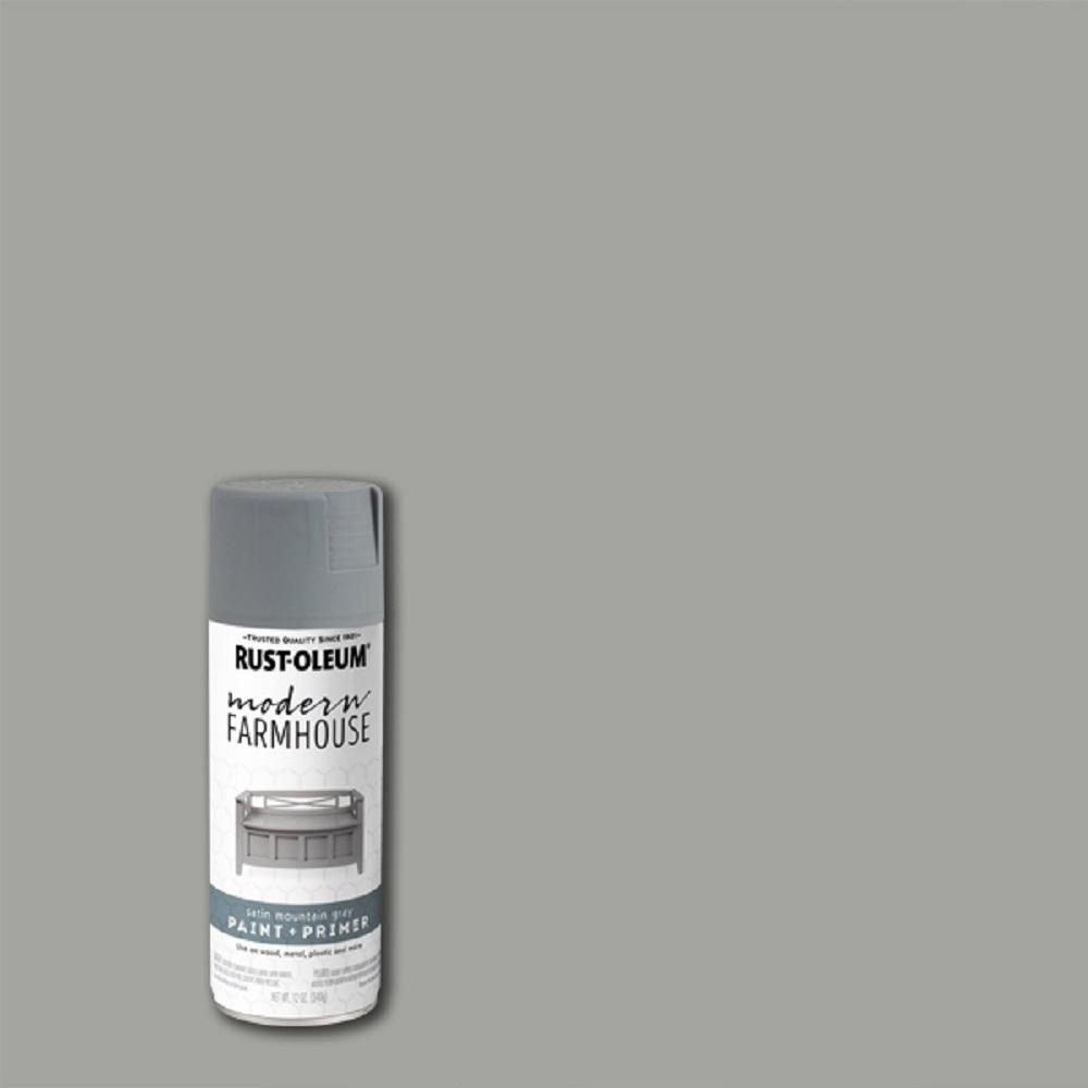 Rust-Oleum Modern Farmhouse 12 oz. Satin Mountain Gray Spray Paint