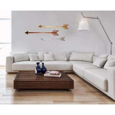 4 in. H x 32 in. W Metallic Steel Arrow Wall Art (3-Piece)
