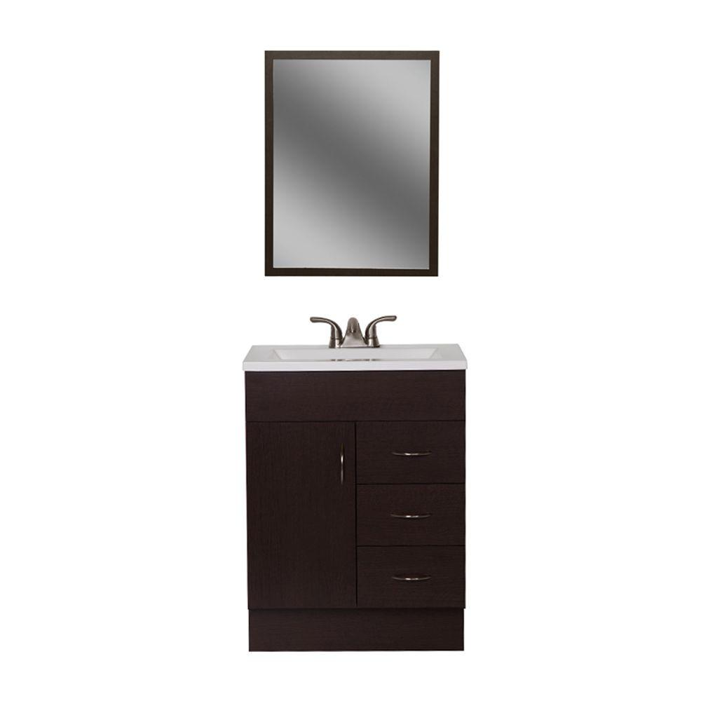 Woodcrafters Vanguard 24 In Bath Vanity In Ebony With