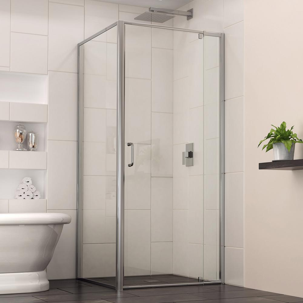 dreamline flex in to in x in x 72 in framed pivot shower door in the home depot