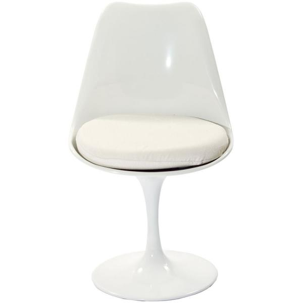 Lippa White Dining Fabric Side Chair