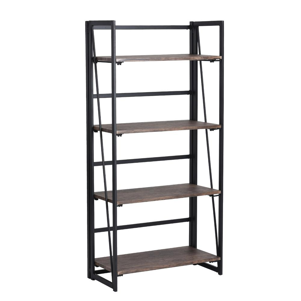 FurnitureR Backer Black Metal Bookcase, Matte was $132.99 now $105.99 (20.0% off)