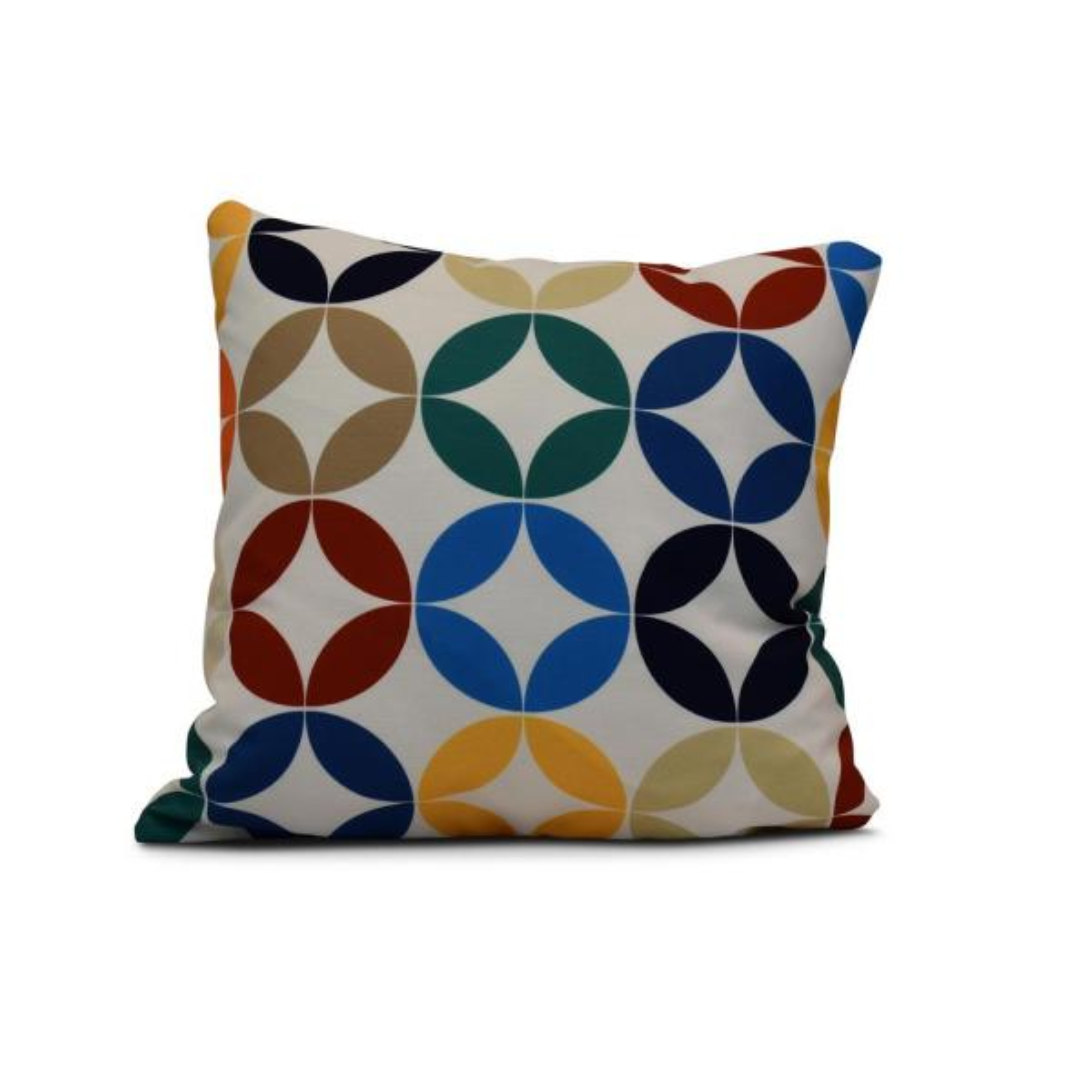 16 in. Eye Opener Geometric Print Pillow in Green PG762GR27-16