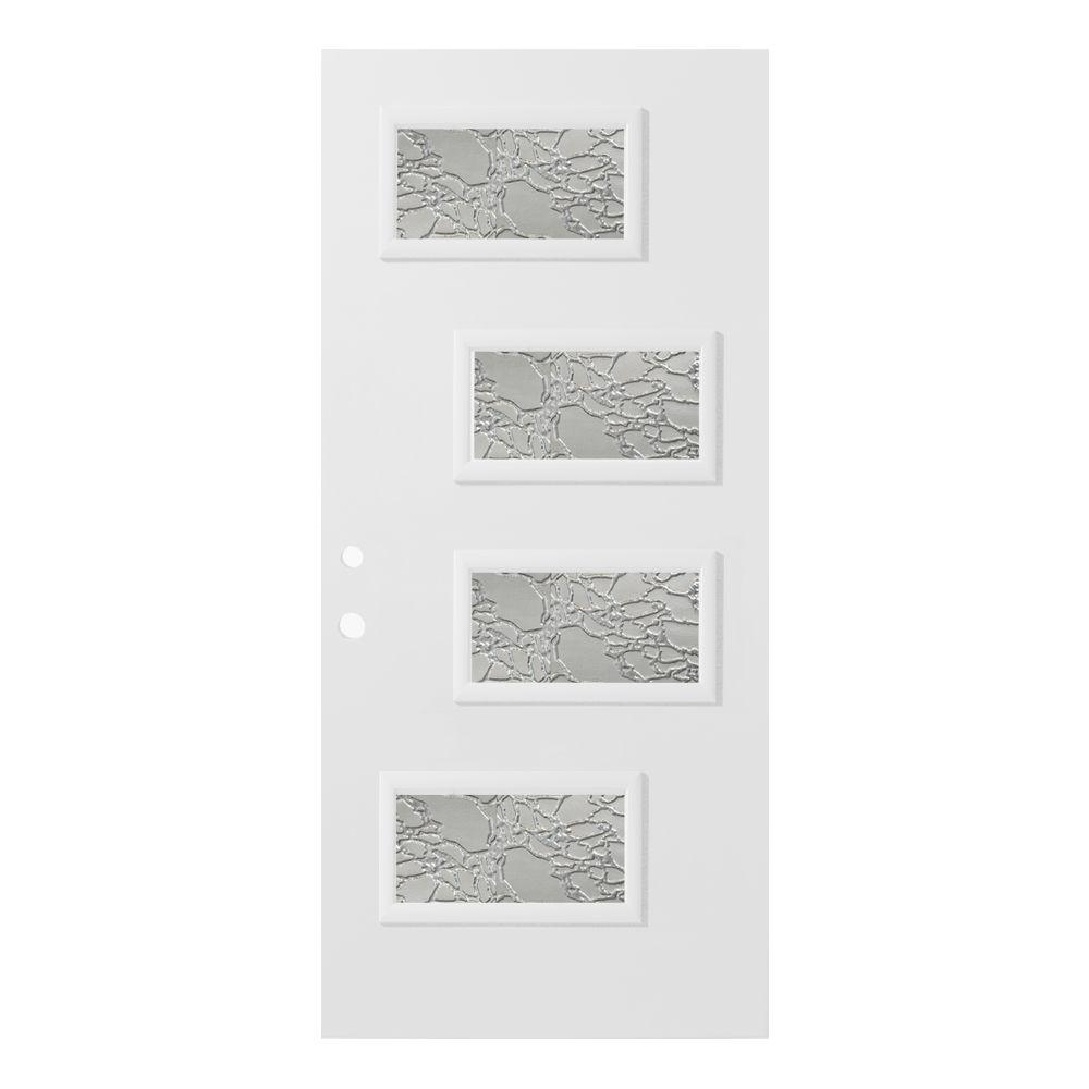 36 in. x 80 in. Beatrice Delta Satin 4 Lite Painted
