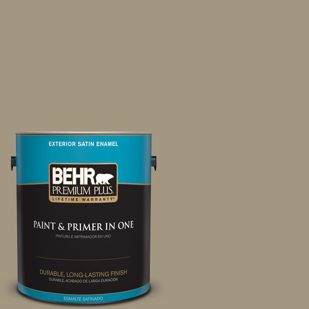 BEHR Premium Plus 1-gal. #N330-5 Livingston Satin Enamel Exterior Paint