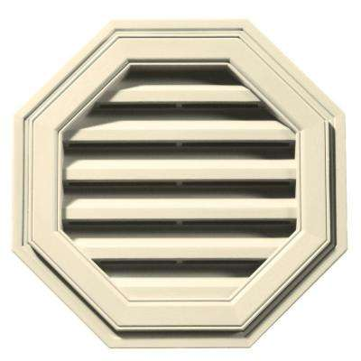 18 in. Octagon Gable Vent in Cream
