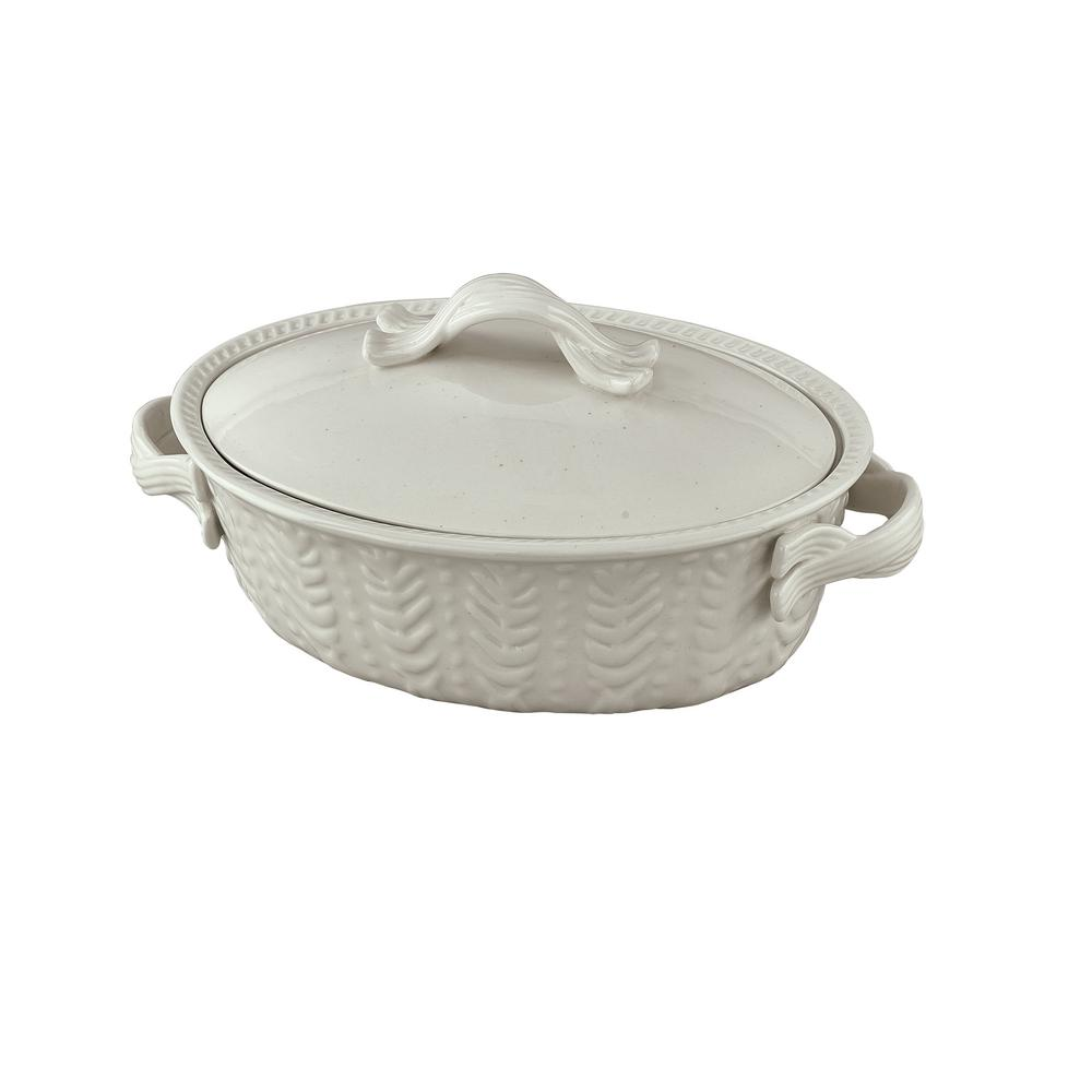 Levingston 8.25 in. x 11.5 in. Covered Oval Baking Dish with