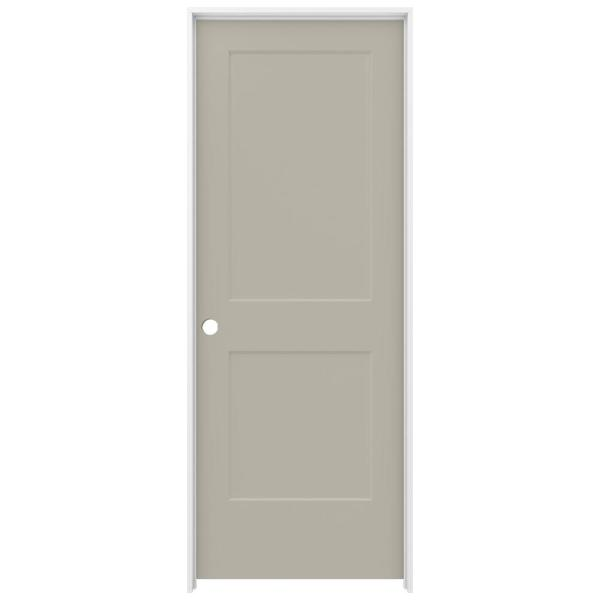32 in. x 80 in. Monroe Desert Sand Right-Hand Smooth Solid Core Molded Composite MDF Single Prehung Interior Door