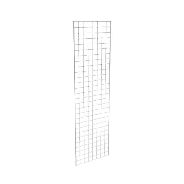 96 in. H x 24 in. W White Metal Grid Wall Panel (3-Pack)