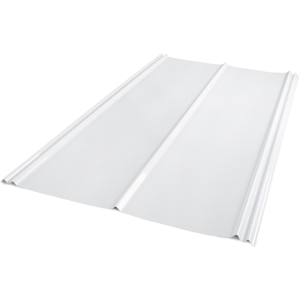 6 ft. SunSky 5V Crimp Polycarbonate Roof Panel in White Opal