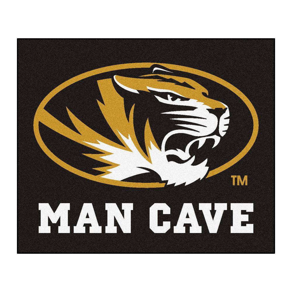 University of Missouri Black Man Cave 5 ft. x 6 ft. Area Rug