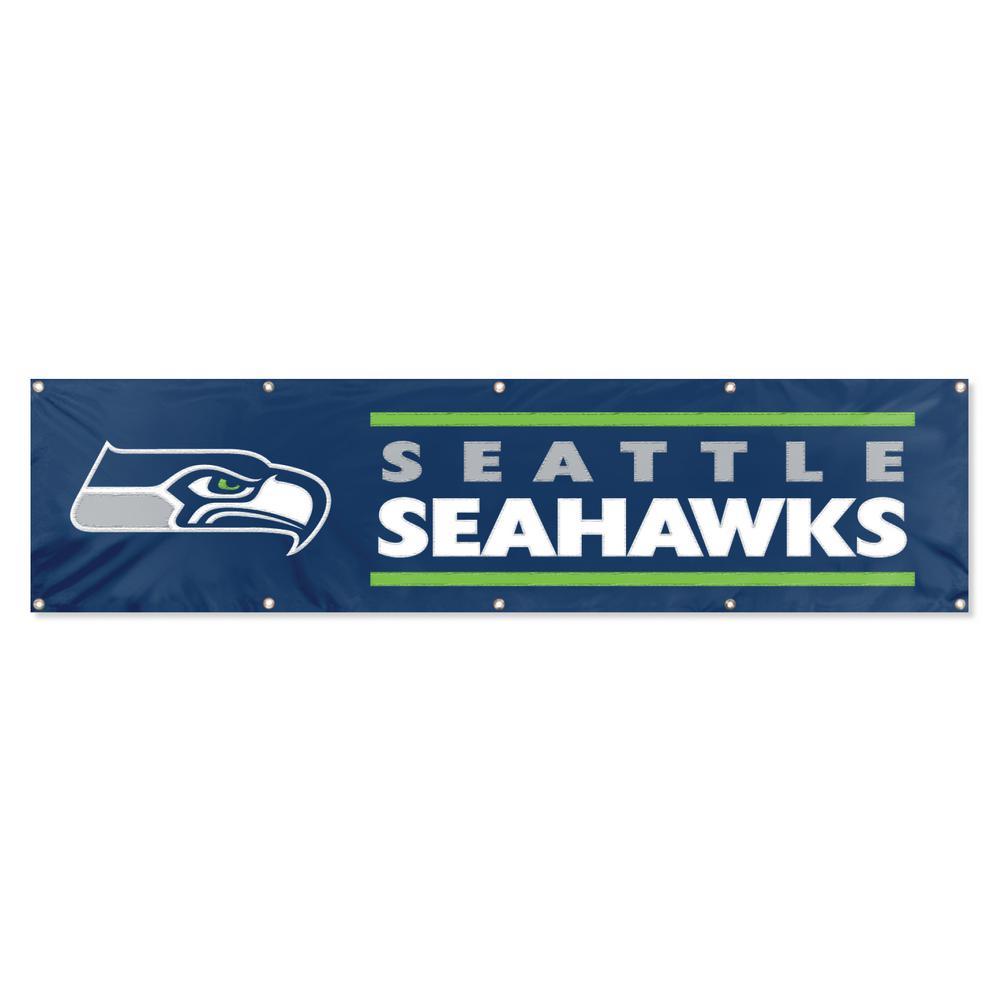 8 ft. x 2 ft. NFL License Seahawks Team Banner
