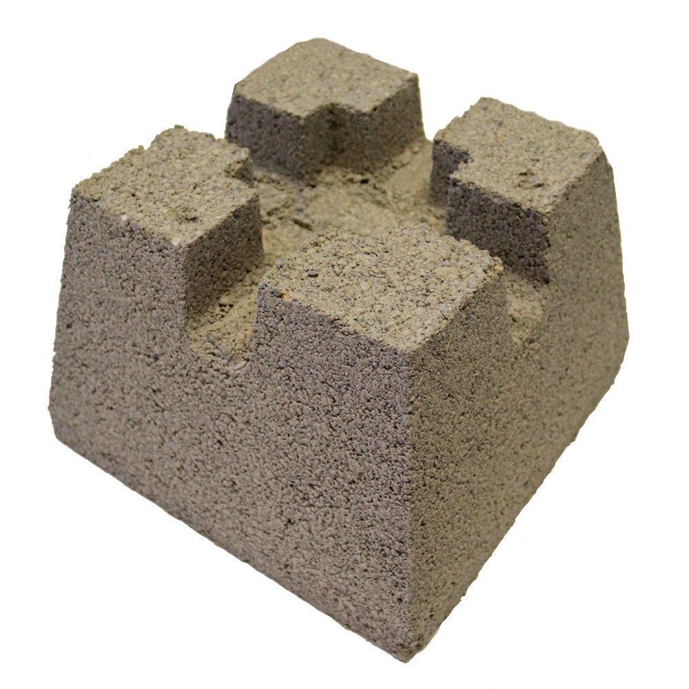 7-3/4 in. x 10-3/4 in. x 10-3/4 in. Concrete Deck Block
