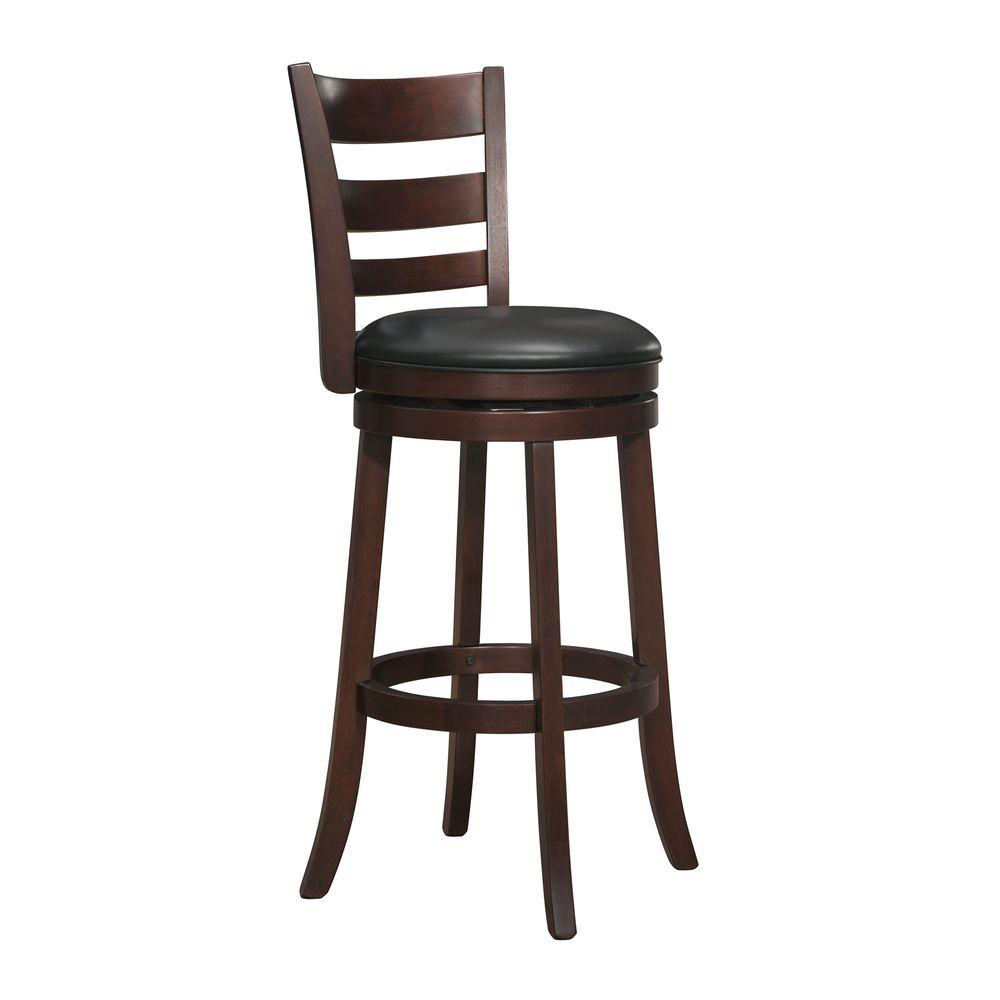 null 29 in. Bar Stool with Swivel in Espresso
