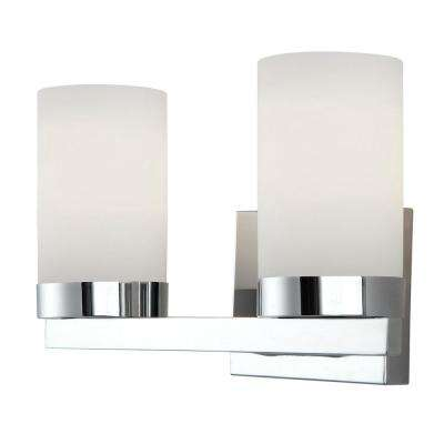 Milo 2-Light Chrome Bath Light