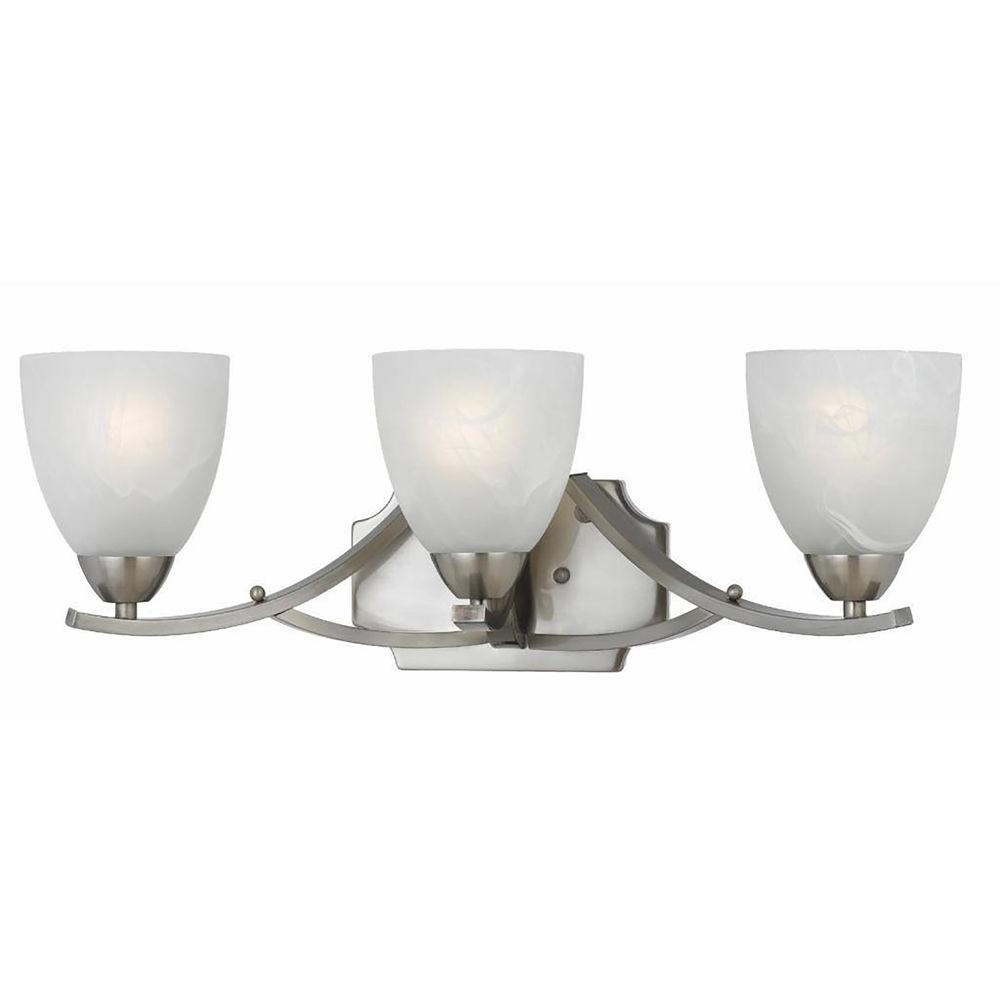 Filament Design Lampu 3-Light Satin Nickel Bath Vanity Light