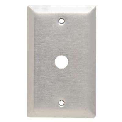302 Series 1-Gang Coaxial Wall Plate in Stainless Steel