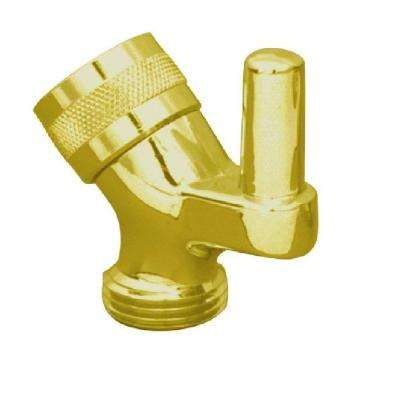Shower Arm Metal Pin Mount in Polished Brass