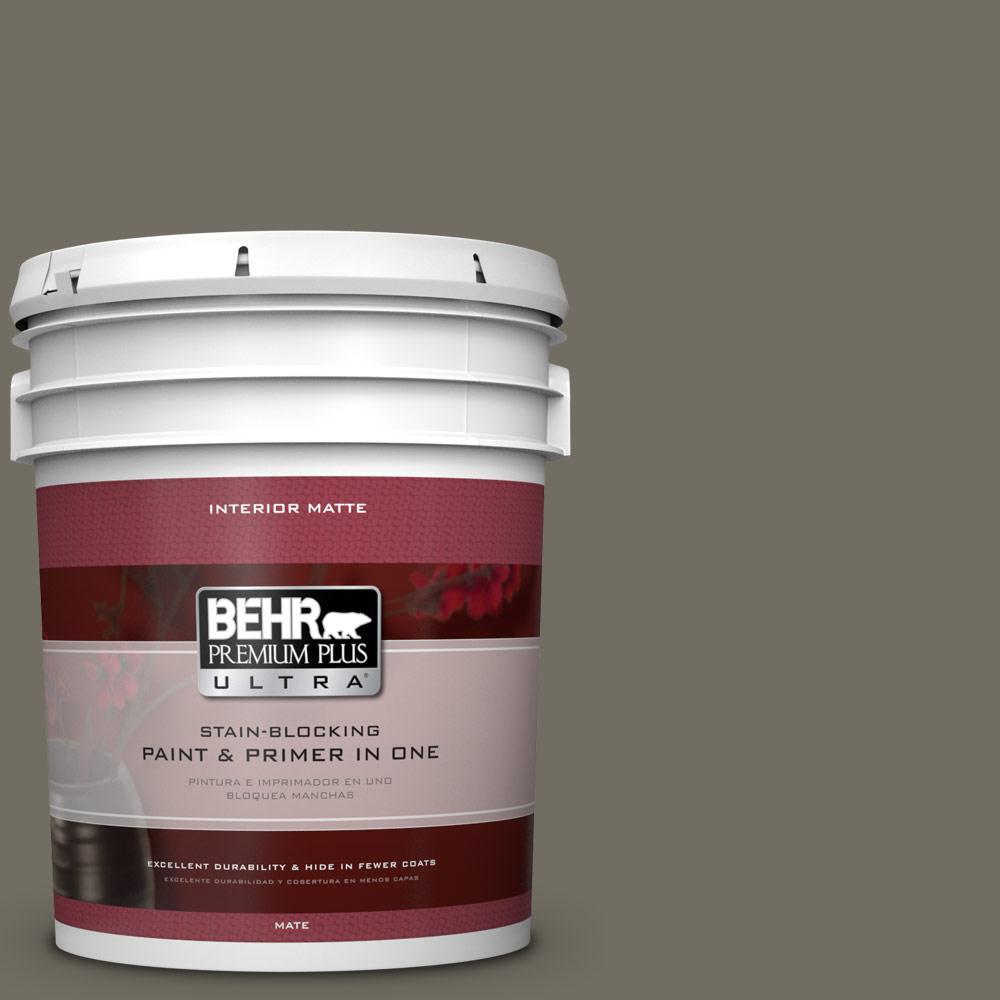 BEHR Premium Plus Ultra 5 gal. #790D-6 Dusty Mountain Flat/Matte Interior Paint