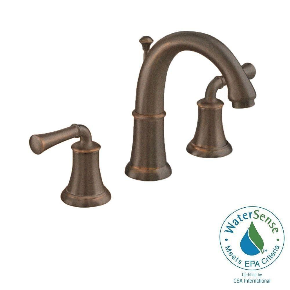 American Standard Portsmouth Single Hole 2-Handle Mid-Arc Bathroom Faucet with Speed Connect Drain in Oil Rubbed Bronze