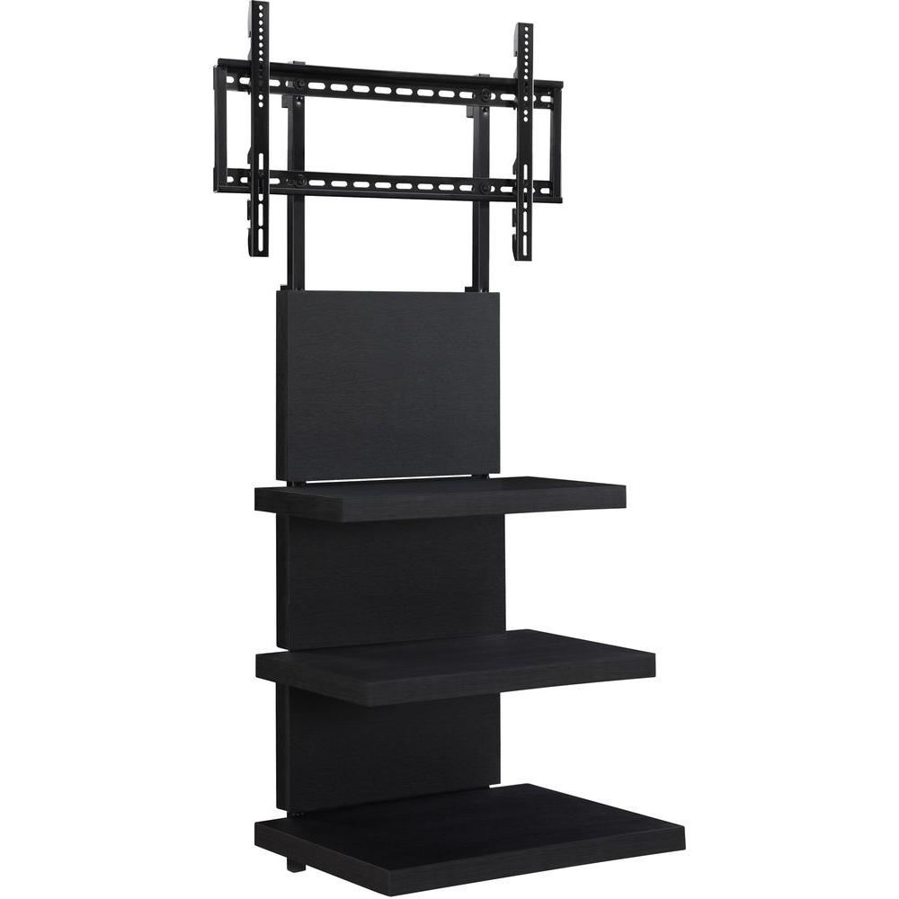 Ameriwood Home 60 In Popular Wide Tv Stand In Black Hd30382 The