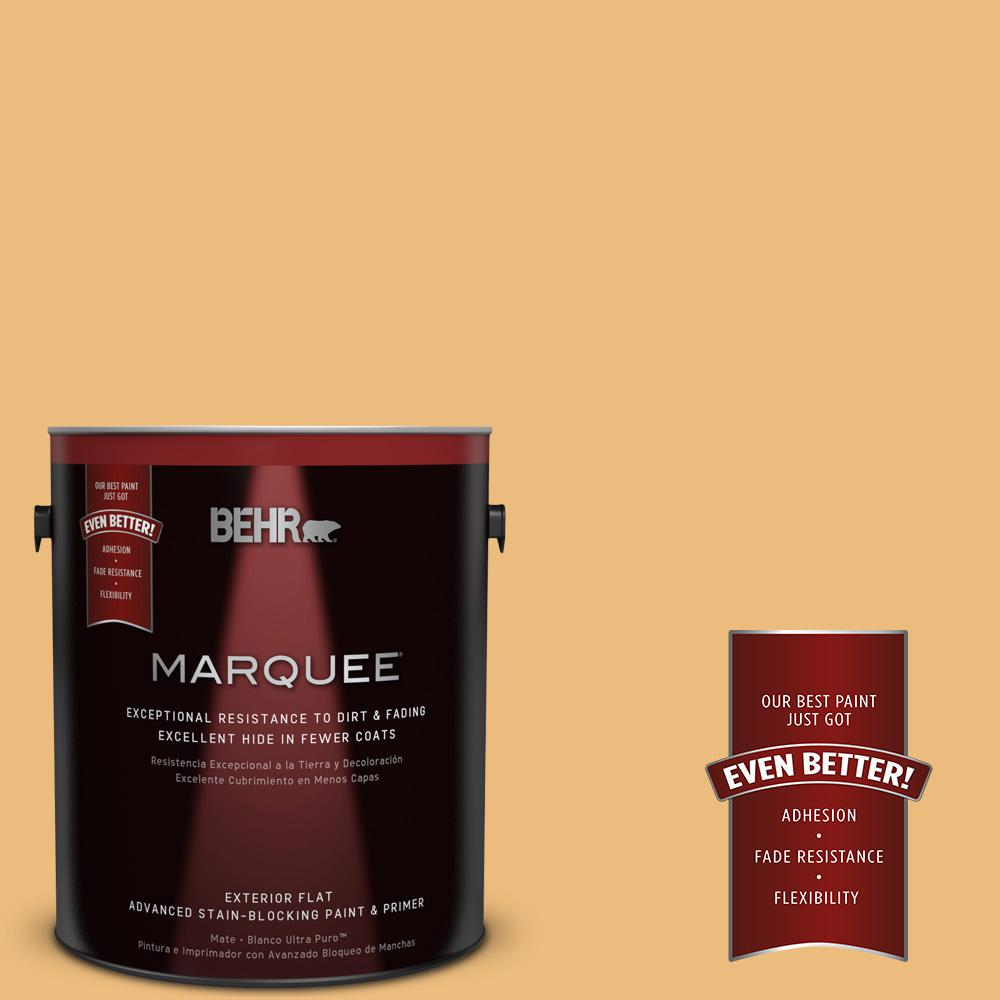 1-gal. #310D-4 Gold Buff Flat Exterior Paint