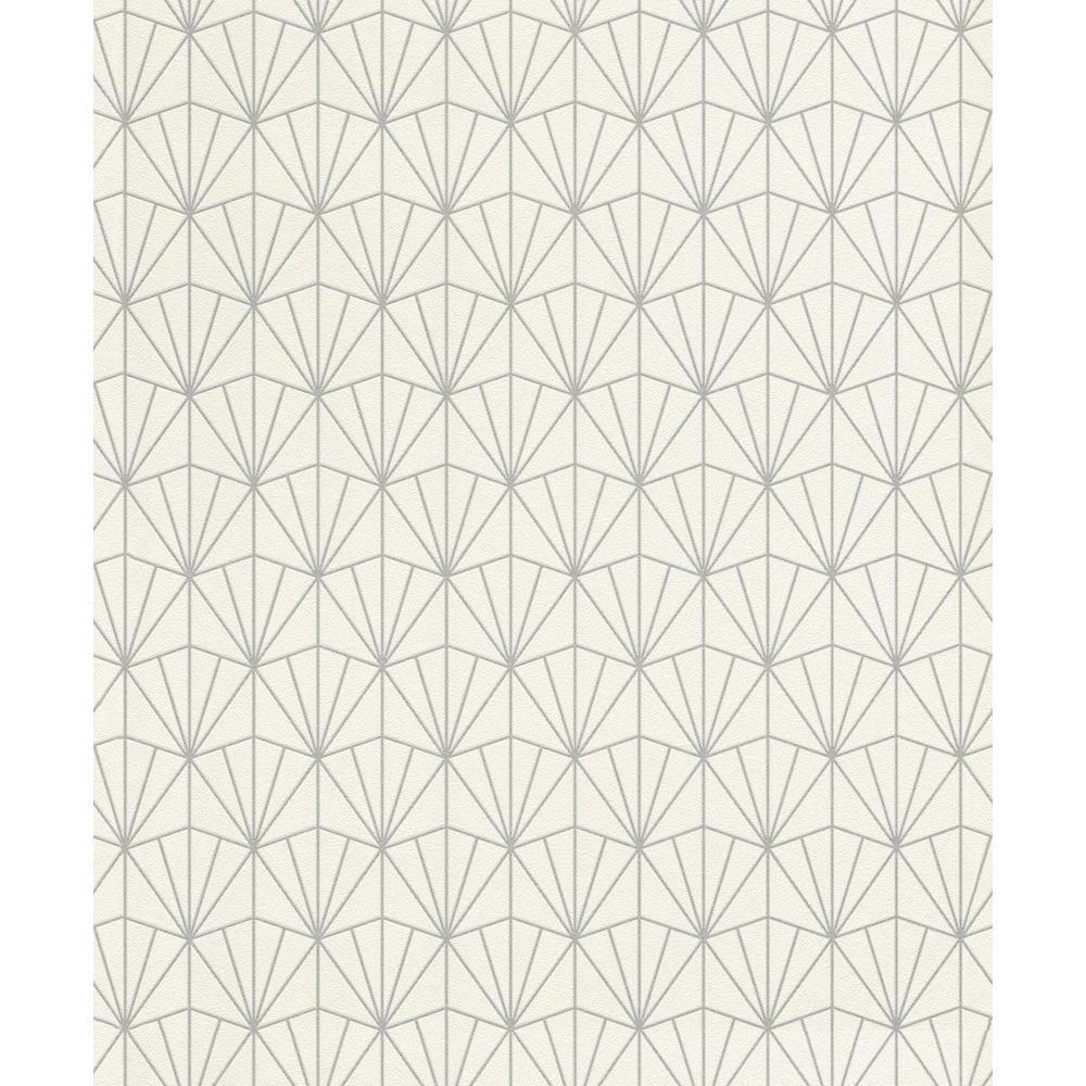 8 in. x 10 in. Frankl Cream Geometric Wallpaper Sample