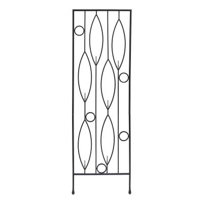 Vinifera Bottle Decorative Garden Trellis, 79.75 in. Tall Black Powder Coat Finish