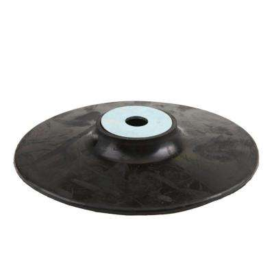 7 in. Rubber Backing Pad with 5/8 in. x 11 in. Nut