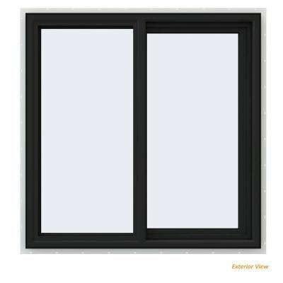 35.5 in. x 35.5 in. V-4500 Series Bronze Painted Vinyl Right-Handed Sliding Window with Fiberglass Mesh Screen