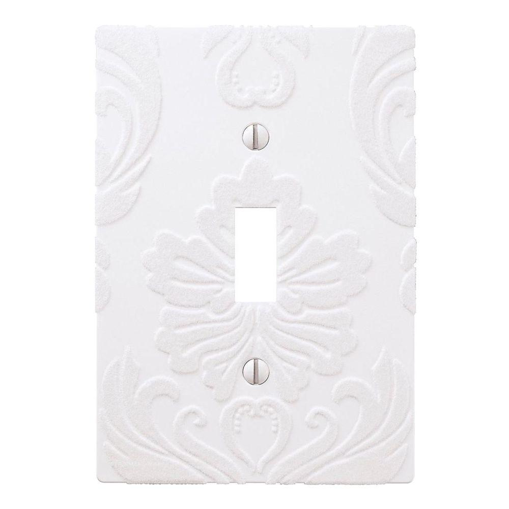 Amerelle Demask 1 Toggle Wall Plate - White