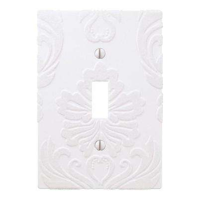 Demask 1 Toggle Wall Plate - White