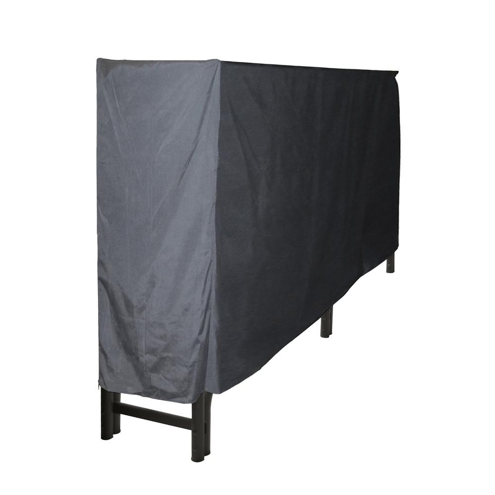 8 ft. Heavy Duty Firewood Rack with Full Cover