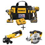 20-Volt MAX Lithium-Ion Cordless Brushless Combo Kit (2-Tool) w/FLEXVOLT and 20V Batteries, Bonus Grinder and Circ Saw