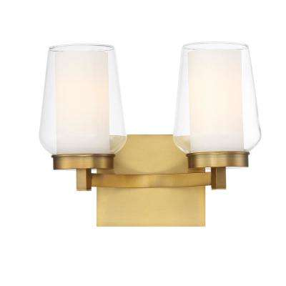 Manchester 2-Light Brass Wall Sconce