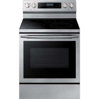 30 in. 5.9 cu. ft. Single Oven Electric Range with Self-Cleaning True Convection Oven in Stainless Steel