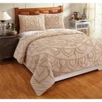 Better Trends Cleo 104 in. X 90 in.  Taupe King Comforter with 20 in. X 36 in. 2-King Sham