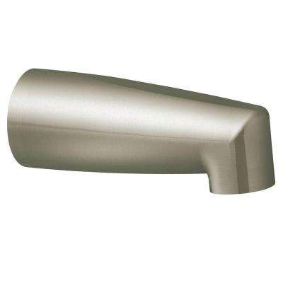 Non-Diverter Tub Spout with Slip Fit Connection in Brushed Nickel