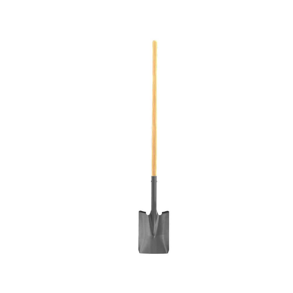 47 in. Wood Handle Closed Back Square Point Shovel