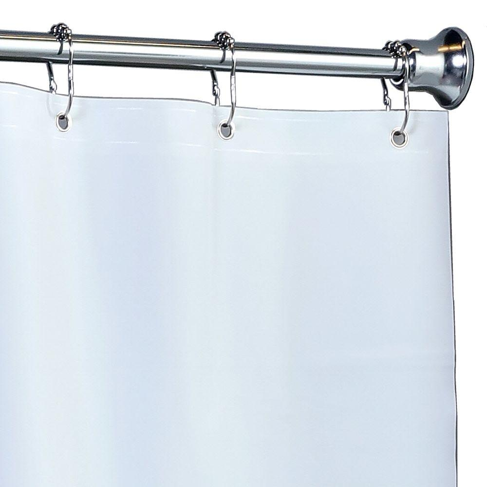 Mildew Resistant Extra Wide PEVA Shower Liner With Microban In White