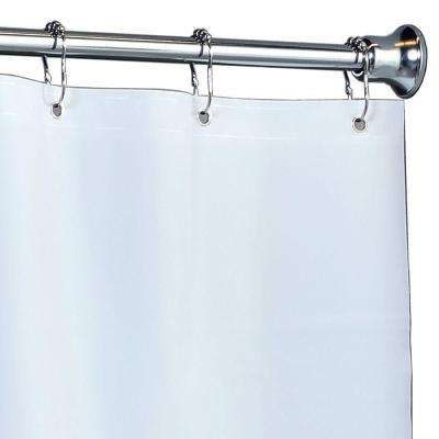 82 in. x 74 in. Mildew Resistant Extra Wide PEVA Shower Liner with Microban in White