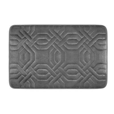 Chain Ring Dark Gray 17 in. x 24 in. Memory Foam Bath Mat