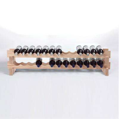 26-Bottle Stackable Wine Rack Kit in Natural