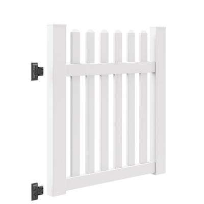 Seneca Straight 4 ft. W x 4 ft. H White Vinyl Un-Assembled Fence Gate