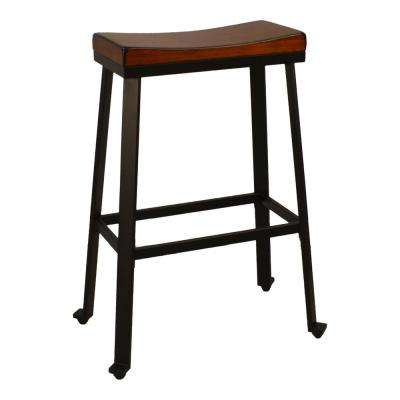 Thea 30 in. Chestnut Saddle Seat Stool