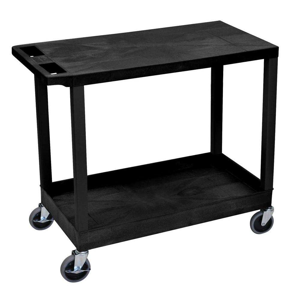 Husky 33 In 4 Drawer Mechanics Utility Cart In Black With