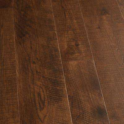 Take Home Sample - Hickory Sunset Engineered Click Lock Hardwood Flooring - 5 in. x 7 in.